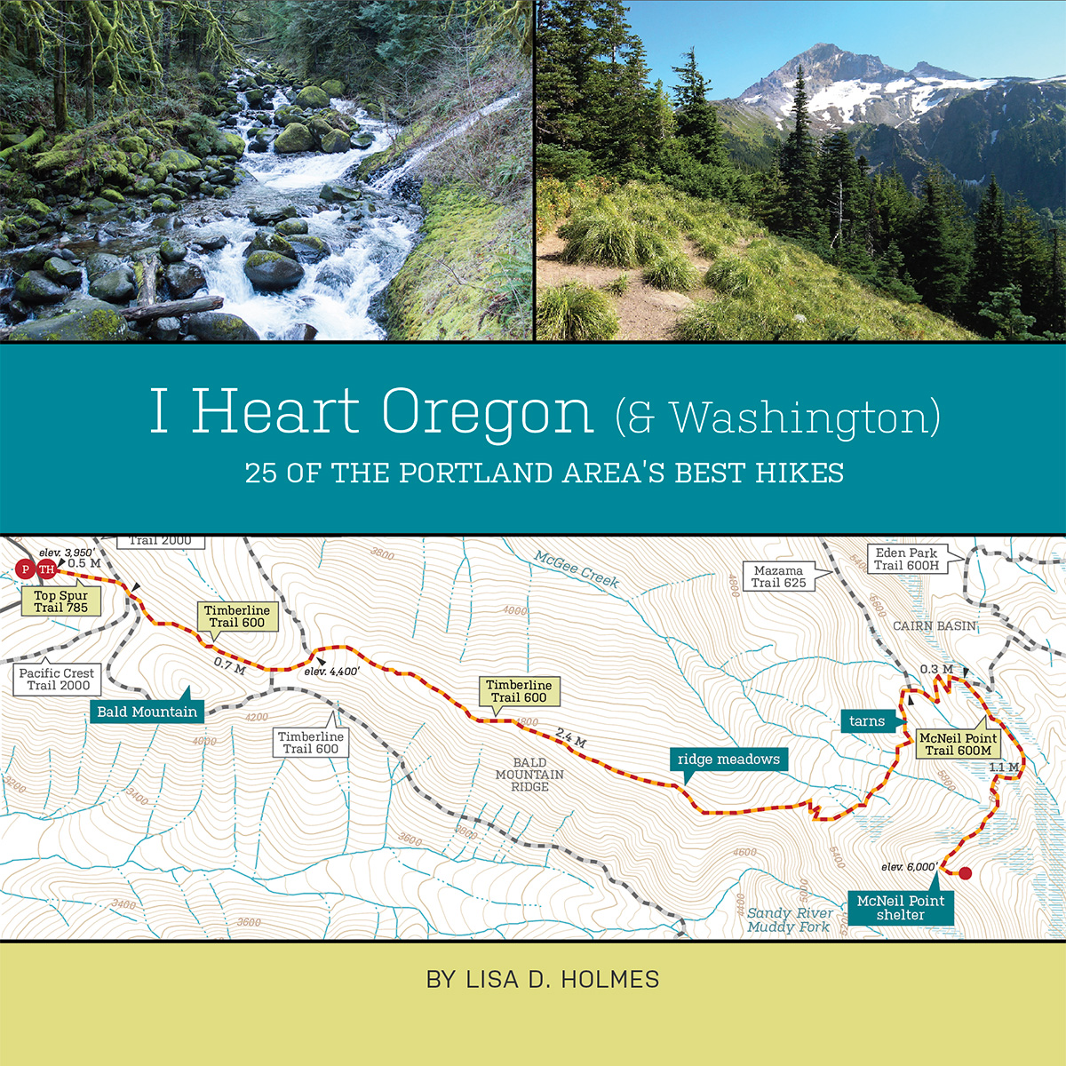 Book Design: I Heart Oregon guidebook