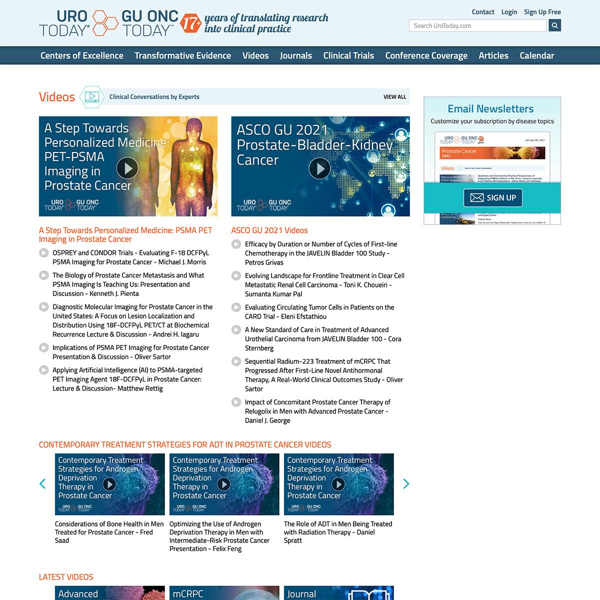 UroToday website design